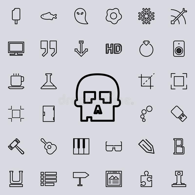 het pictogram van het schedeloverzicht Gedetailleerde reeks minimalistic lijnpictogrammen Premie grafisch ontwerp Één van de inza stock illustratie