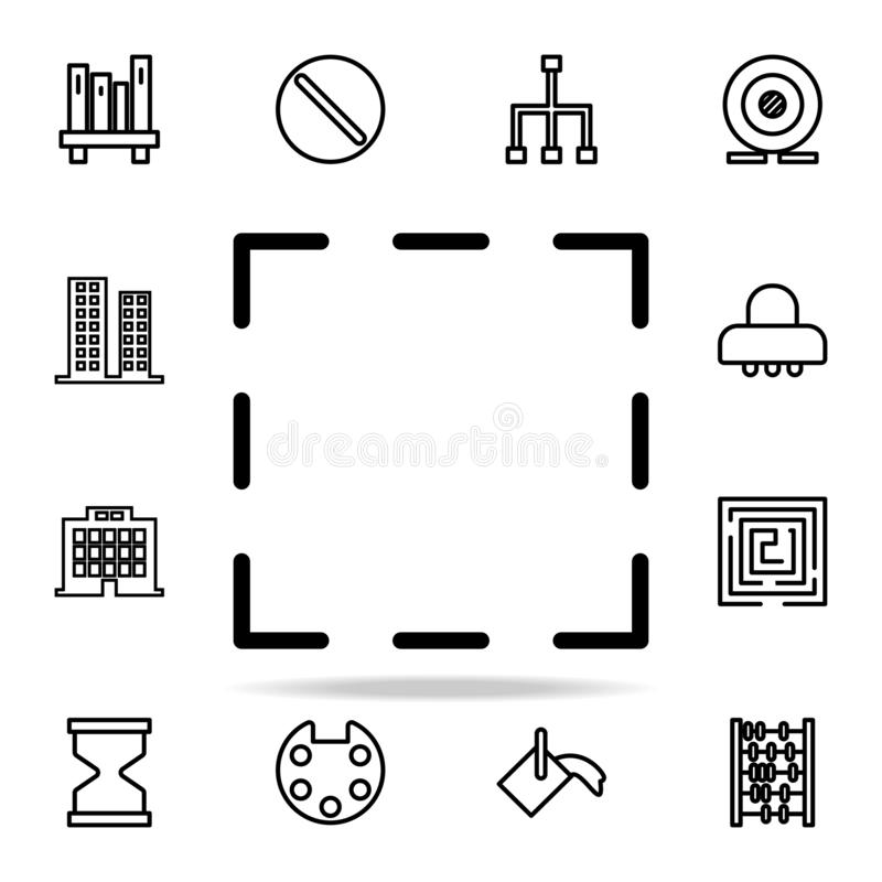 het pictogram van het selectieteken voor Web wordt geplaatst dat en het mobiele algemene begrip van Webpictogrammen vector illustratie