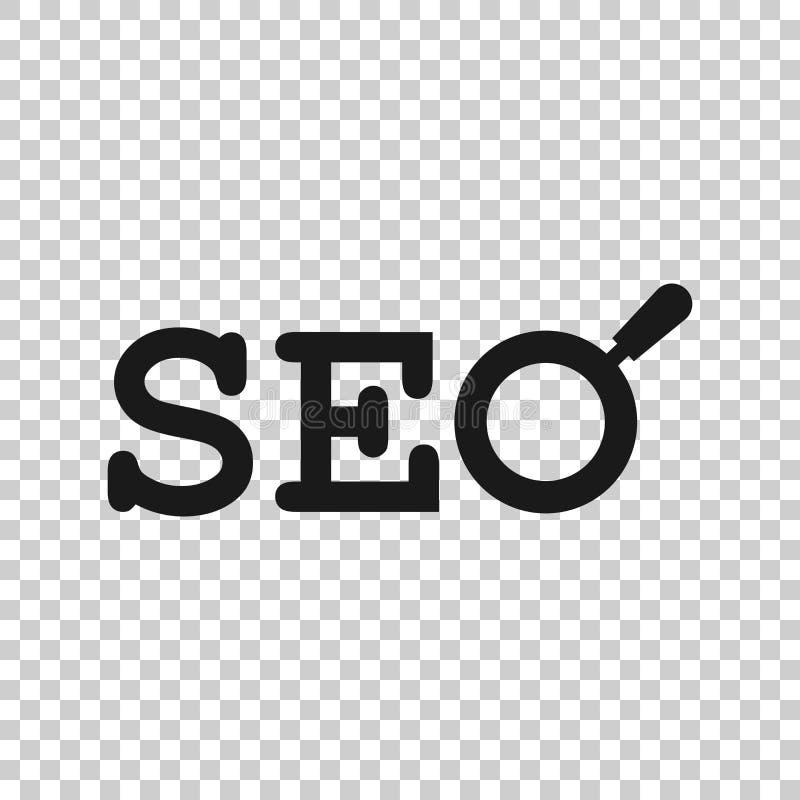 Het pictogram van Seoanalytics in transparante stijl Sociale media vectorillustratie op geïsoleerde achtergrond Van de bedrijfs Z stock illustratie