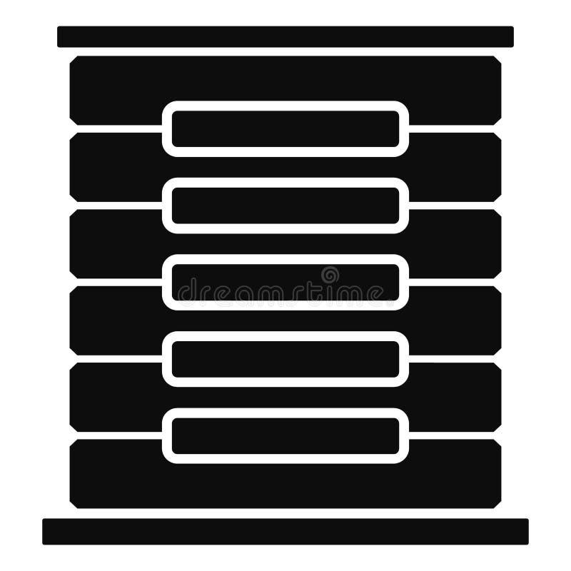 Het pictogram van het serverrek, eenvoudige stijl stock illustratie