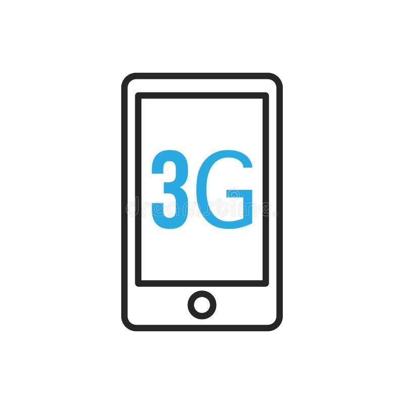 Het pictogram van Smartphone Derde gereration mobiel netwerk royalty-vrije illustratie