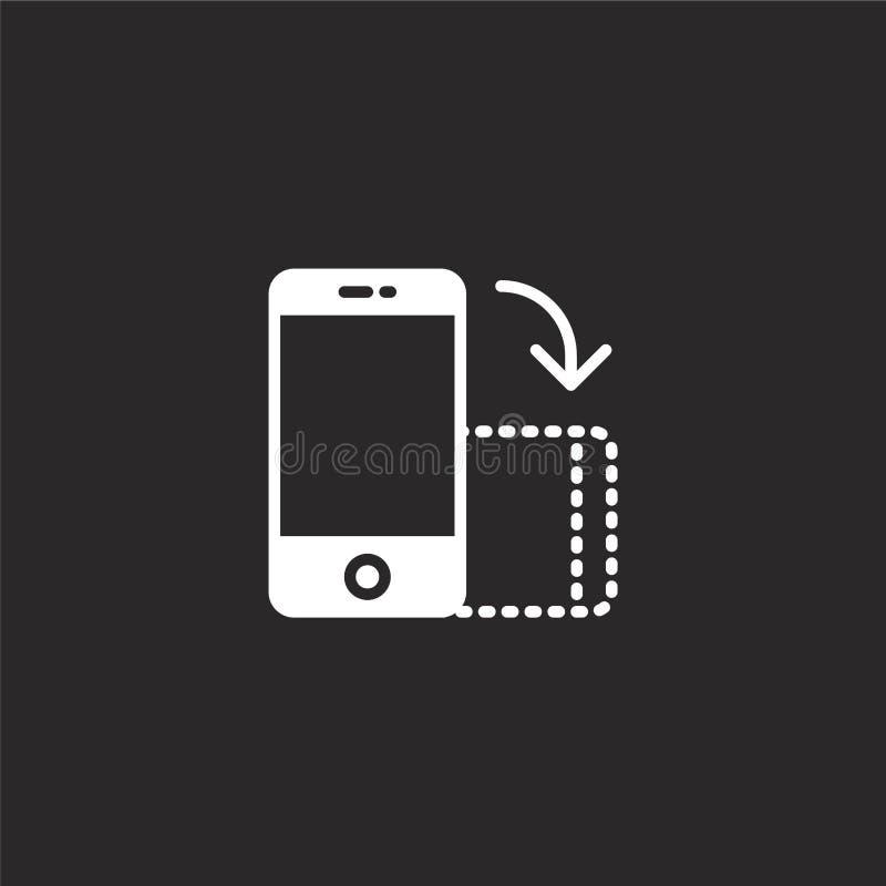 Het pictogram van Smartphone Gevuld smartphonepictogram voor websiteontwerp en mobiel, app ontwikkeling smartphonepictogram van g royalty-vrije illustratie