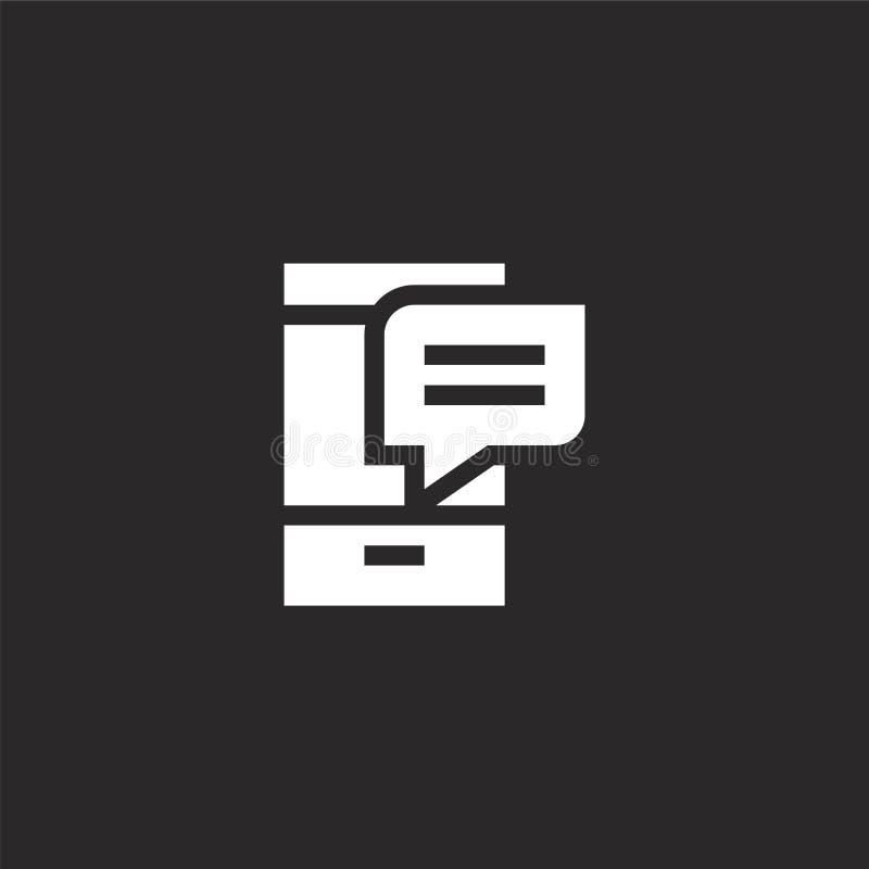 Het pictogram van Smartphone Gevuld smartphonepictogram voor websiteontwerp en mobiel, app ontwikkeling het smartphonepictogram v stock illustratie