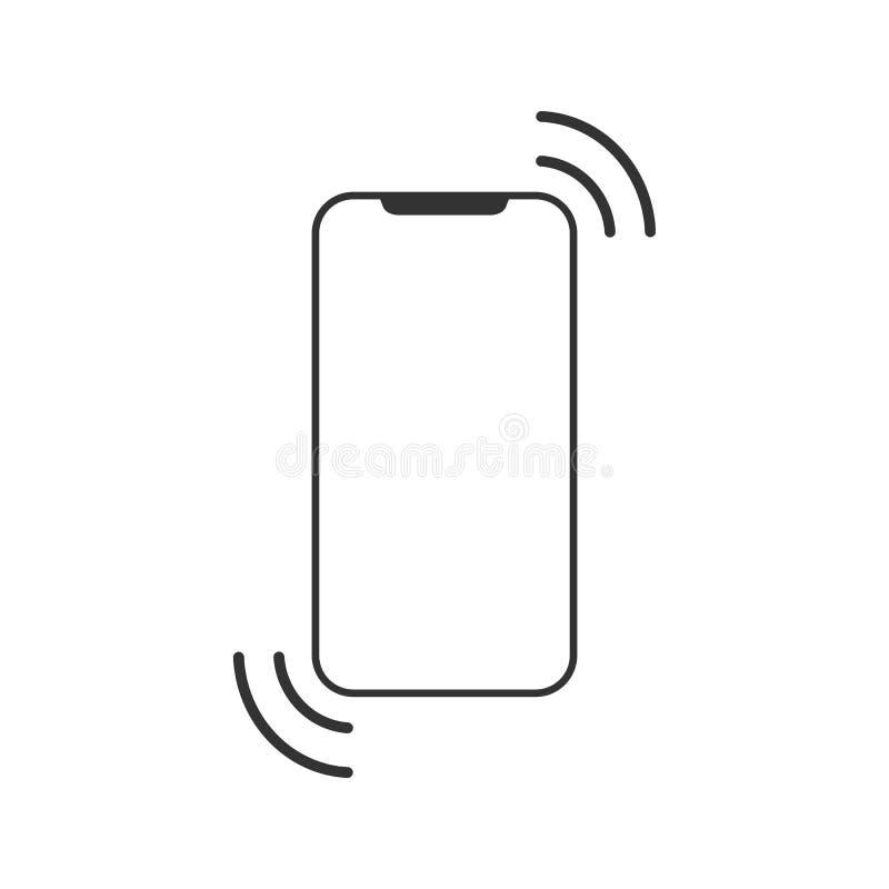 Het pictogram van Smartphone Het symbool van de celtelefoon Mobiel gadget Vlak Ontwerp Vector illustratie stock illustratie
