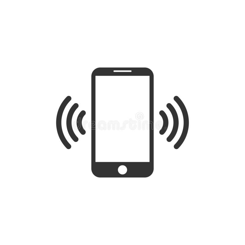 Het pictogram van Smartphone Vlak Ontwerp Het teken van de telefoonverbinding Vector illustratie vector illustratie