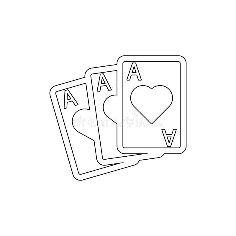 Het pictogram van speelkaartenazen Element van casinopictogram Grafisch het ontwerppictogram van de premiekwaliteit Tekens en sym stock illustratie