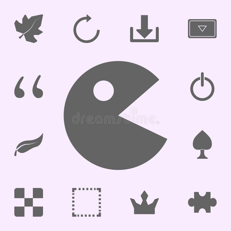 het pictogram van het spelkarakter voor Web wordt geplaatst dat en het mobiele algemene begrip van Webpictogrammen royalty-vrije illustratie
