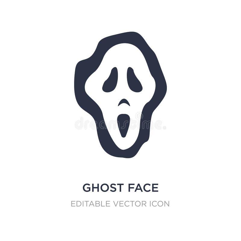 het pictogram van het spookgezicht op witte achtergrond Eenvoudige elementenillustratie van Algemeen concept royalty-vrije illustratie