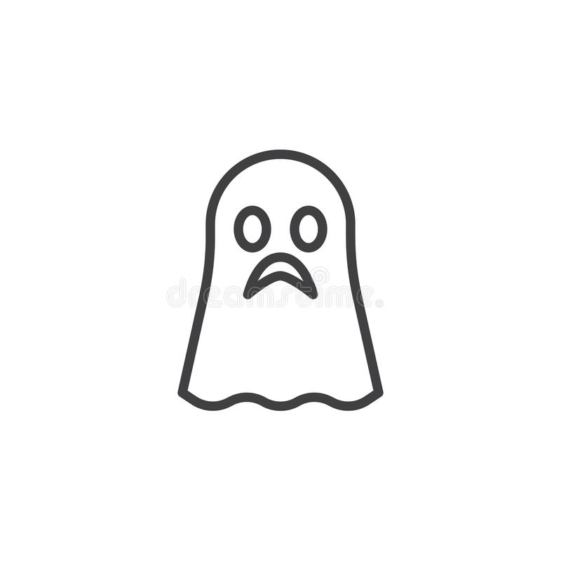 Het pictogram van het spookoverzicht vector illustratie