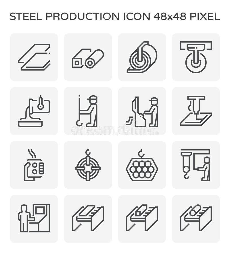 Het pictogram van het staalproduct stock illustratie