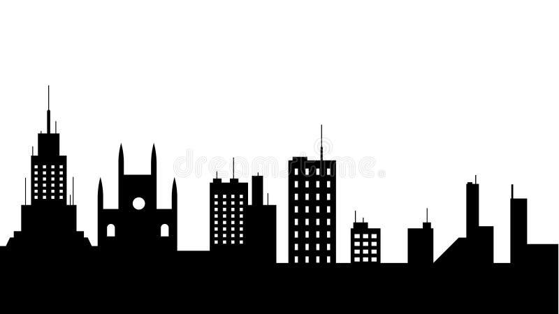 Het pictogram van het stads scape silhouet Element van cityscapes illustratie Tekens en symbolen het pictogram kan voor Web, embl royalty-vrije illustratie