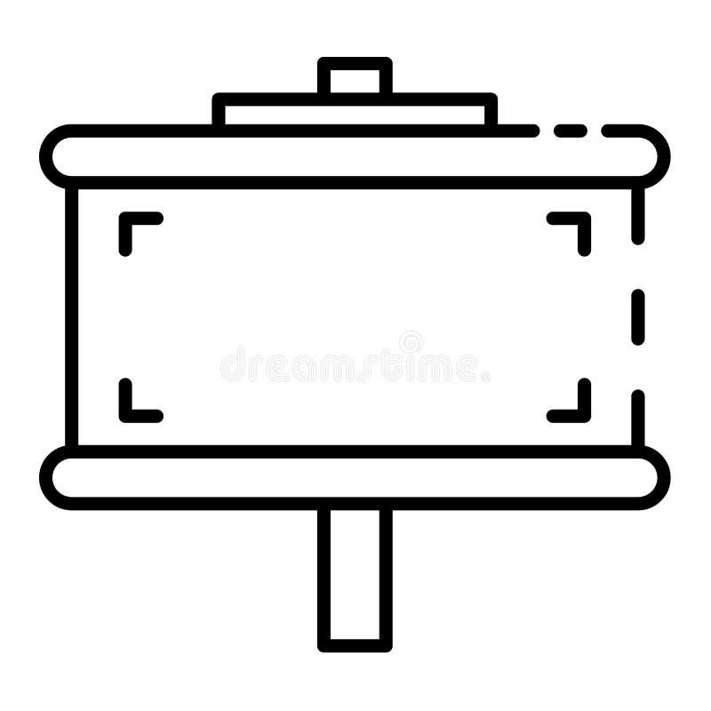 Het pictogram van het stadsaanplakbord, overzichtsstijl vector illustratie