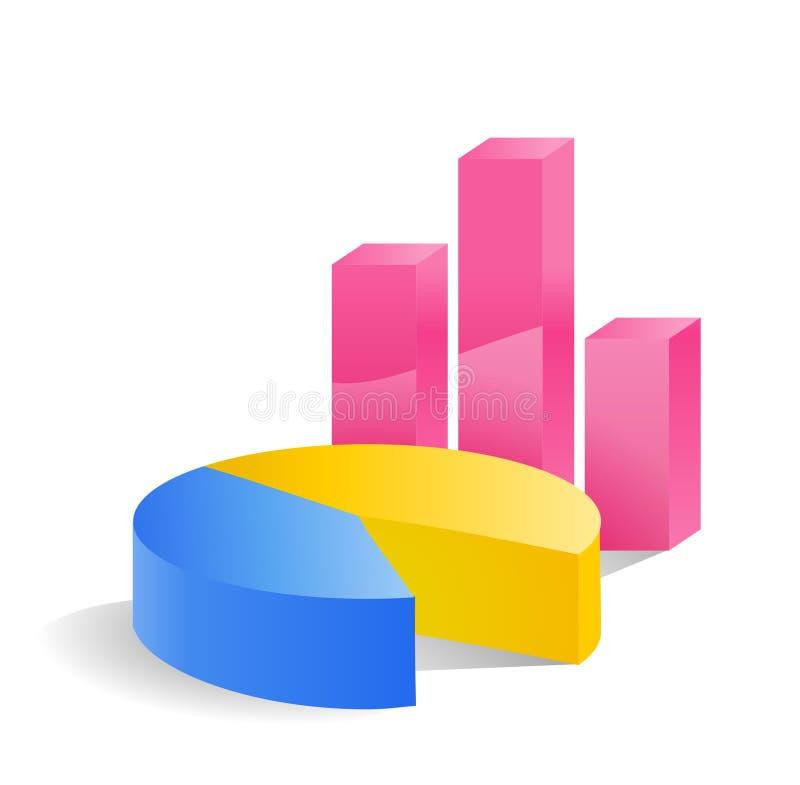 Het pictogram van statistieken royalty-vrije illustratie
