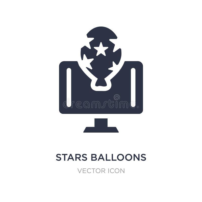 het pictogram van sterrenballons op witte achtergrond Eenvoudige elementenillustratie van Voorzien van een netwerkconcept royalty-vrije illustratie