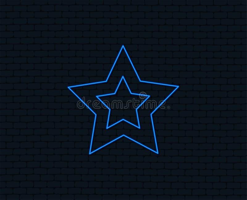 Het pictogram van het sterteken Favoriete knoop nearsighted vector illustratie