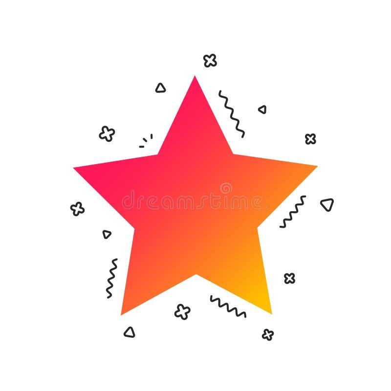 Het pictogram van het sterteken Favoriete knoop nearsighted Vector royalty-vrije illustratie