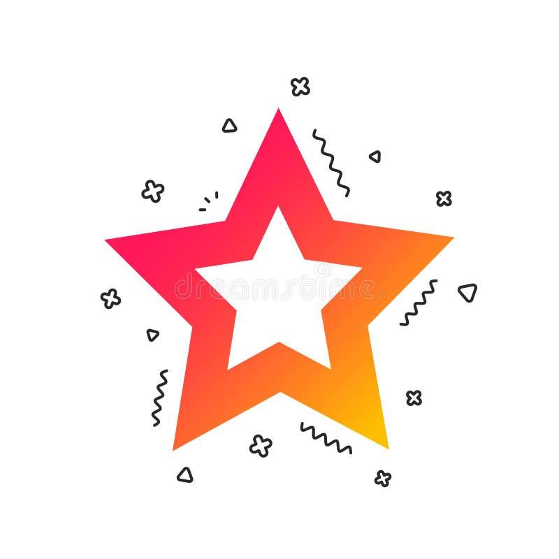 Het pictogram van het sterteken Favoriete knoop nearsighted Vector vector illustratie