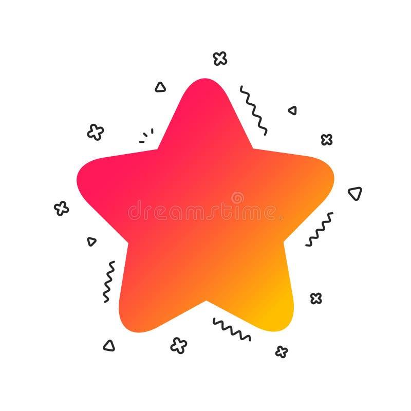 Het pictogram van het sterteken Favoriete knoop nearsighted Vector stock illustratie