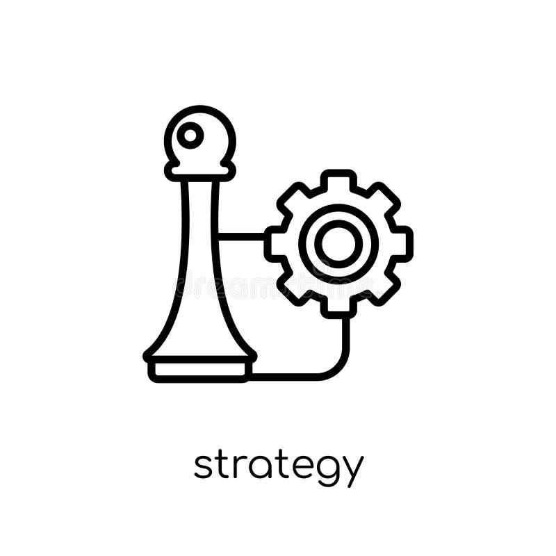 het pictogram van het strategiebeheer van Strategie 50 inzameling royalty-vrije illustratie