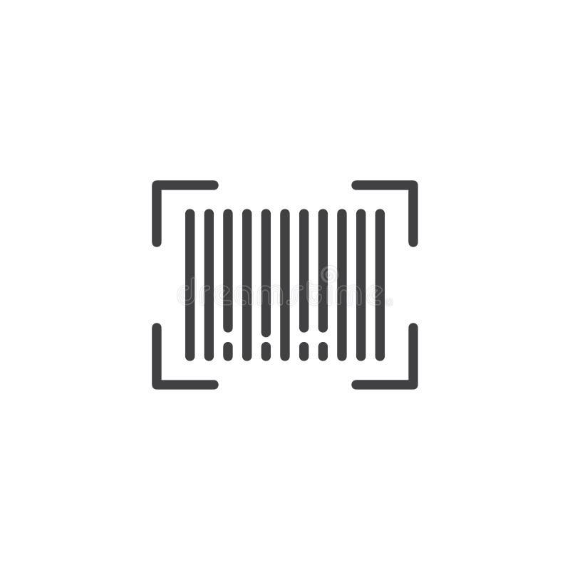 Het pictogram van het streepjescodeoverzicht royalty-vrije illustratie