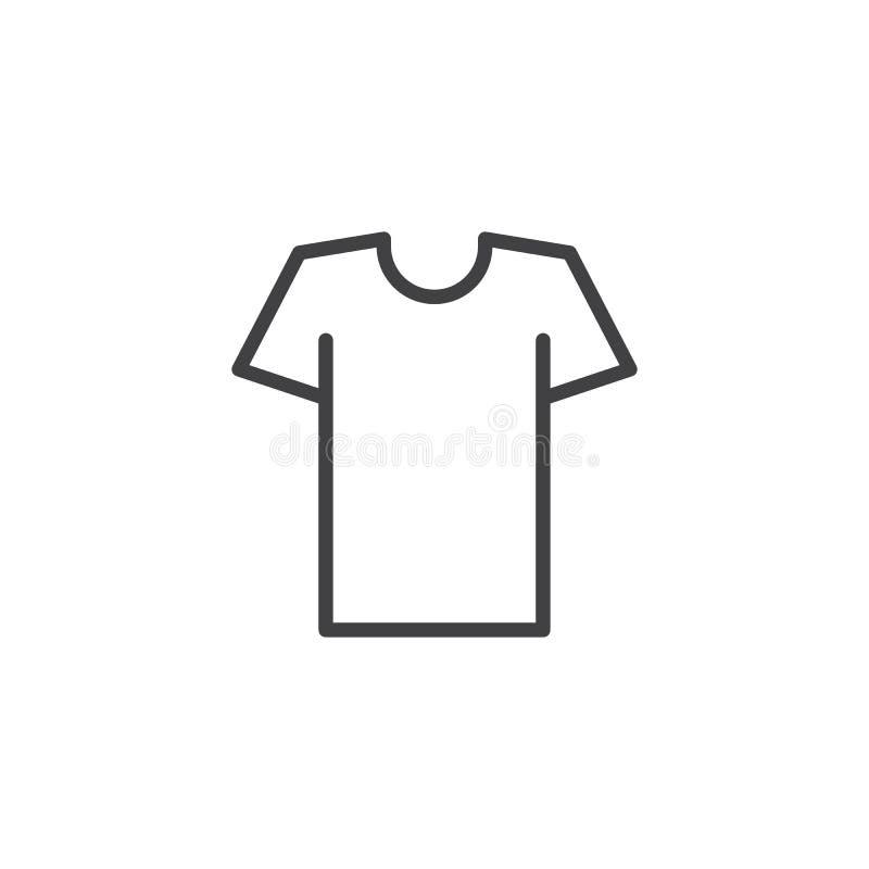 Het pictogram van het t-shirtoverzicht vector illustratie