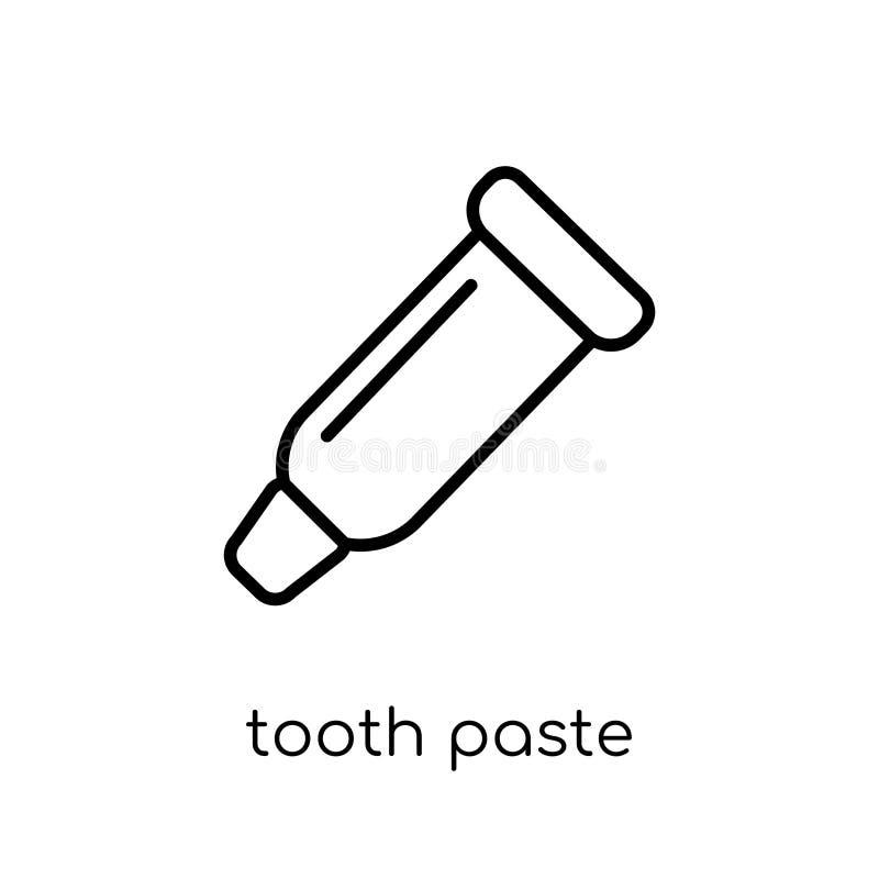 Het pictogram van het tanddeeg van Hygiëneinzameling royalty-vrije illustratie