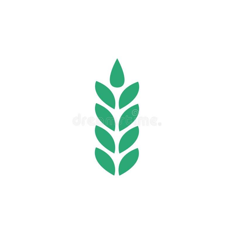 Het pictogram van het tarweoor, Symbool, embleemillustratie Vector illustratie die op witte achtergrond wordt geïsoleerdd royalty-vrije illustratie