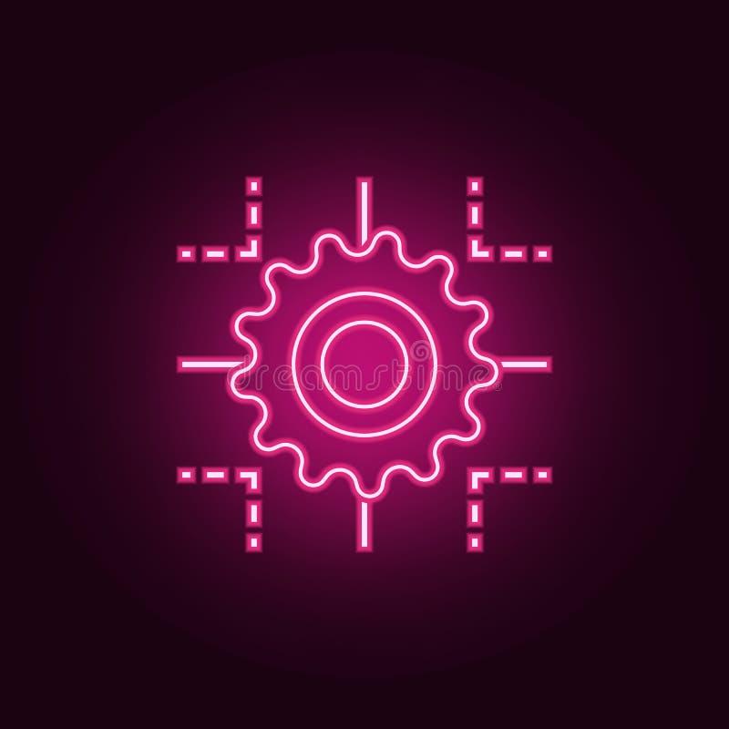 het pictogram van het technologieproces E Eenvoudig pictogram voor websites, Webontwerp, mobiele toepassing, informatie stock illustratie