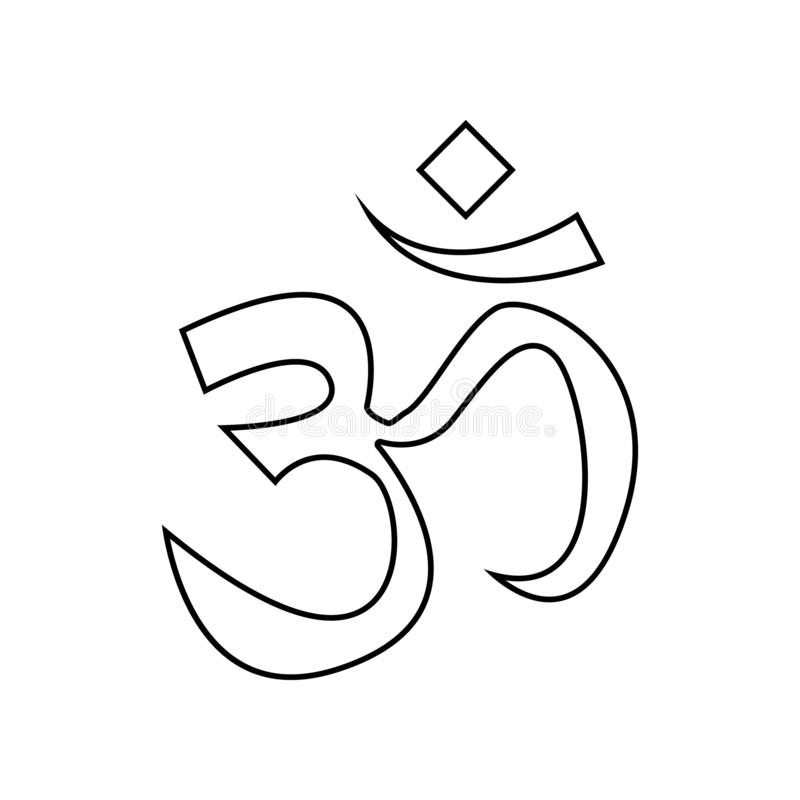 het pictogram van het tekenohm Element van India voor mobiel concept en webtoepassingenpictogram Overzicht, dun lijnpictogram voo vector illustratie