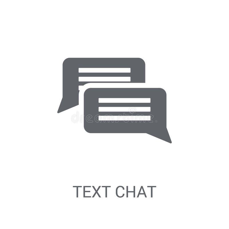 Het pictogram van het tekstpraatje  stock illustratie