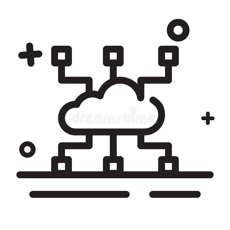 Het pictogram van toestellen Cloud Computing-pictogram, wolken ontvangend pictogram Modern overzichtspictogram vector illustratie