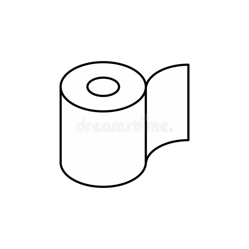 Het pictogram van het toiletpapierbroodje Symbool voor verpakking Vector illustratie royalty-vrije illustratie