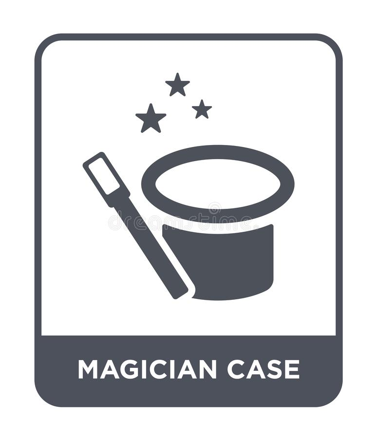 het pictogram van het tovenaargeval in in ontwerpstijl het pictogram van het tovenaargeval op witte achtergrond wordt geïsoleerd  vector illustratie