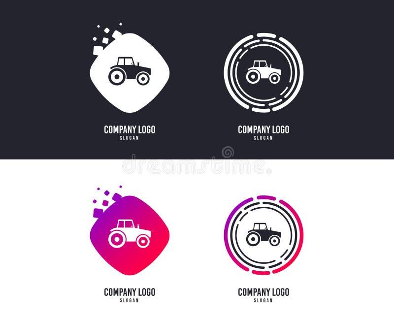 Het pictogram van het tractorteken Landbouw de industriesymbool Vector royalty-vrije illustratie