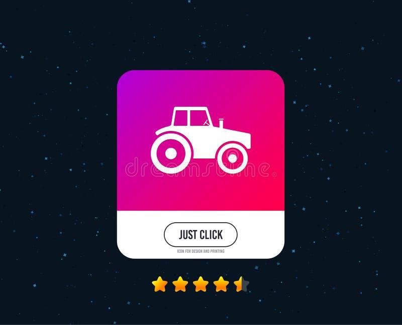 Het pictogram van het tractorteken Landbouw de industriesymbool Vector vector illustratie