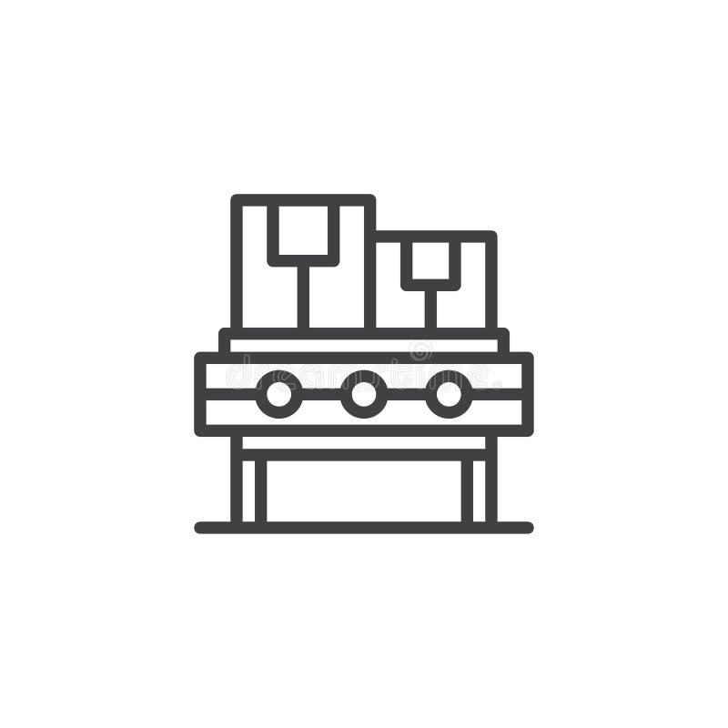 Het pictogram van het transportbandoverzicht vector illustratie