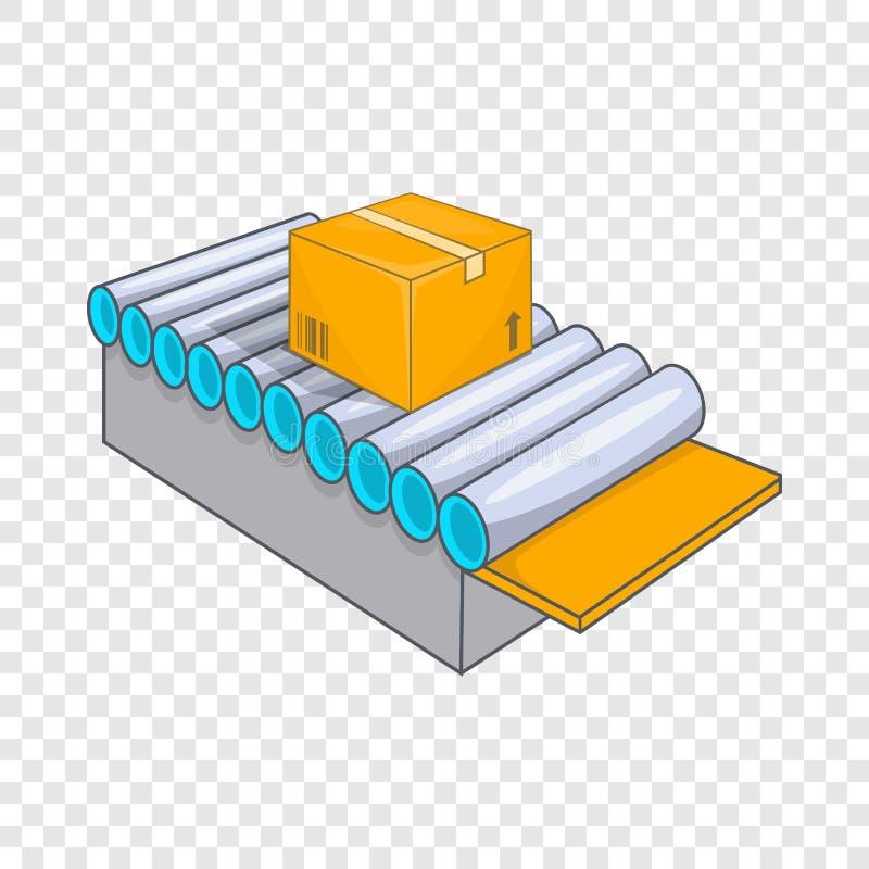 Het pictogram van het transportbandsysteem, beeldverhaalstijl stock illustratie