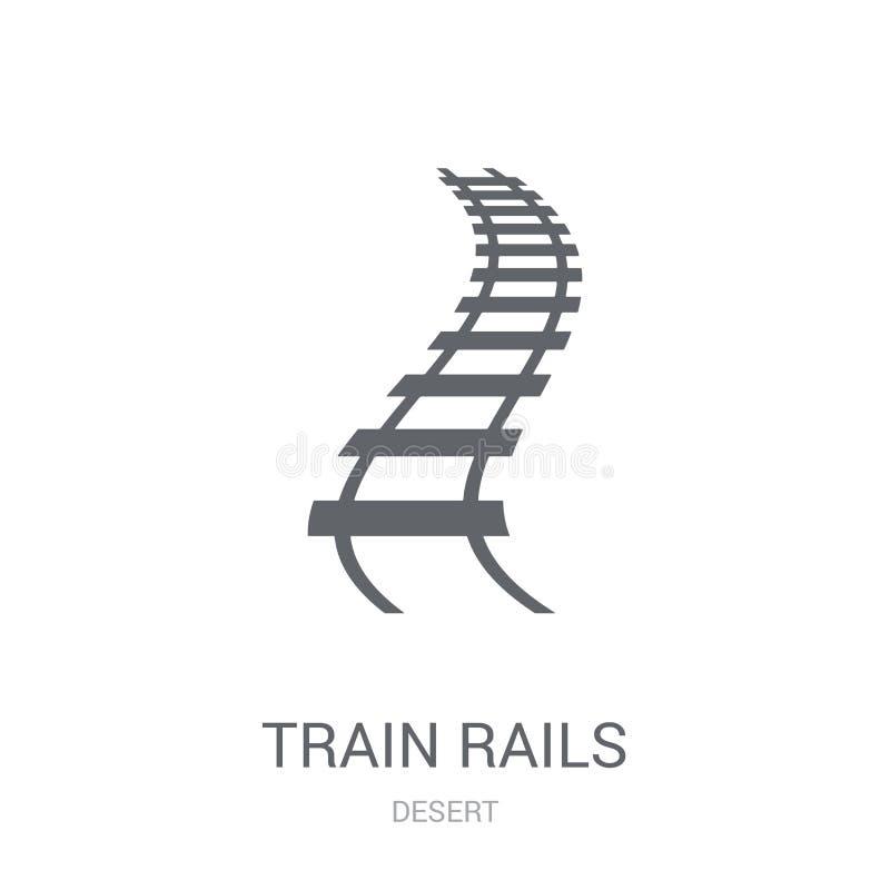 Het pictogram van treinsporen In het embleemconcept van Treinsporen op witte backg vector illustratie