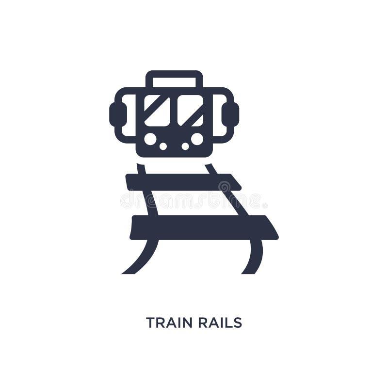 het pictogram van treinsporen op witte achtergrond Eenvoudige elementenillustratie van woestijnconcept vector illustratie