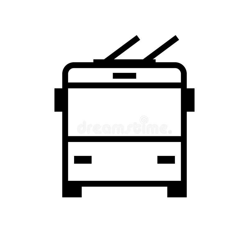 Het pictogram van het trolleybus vooraanzicht royalty-vrije illustratie