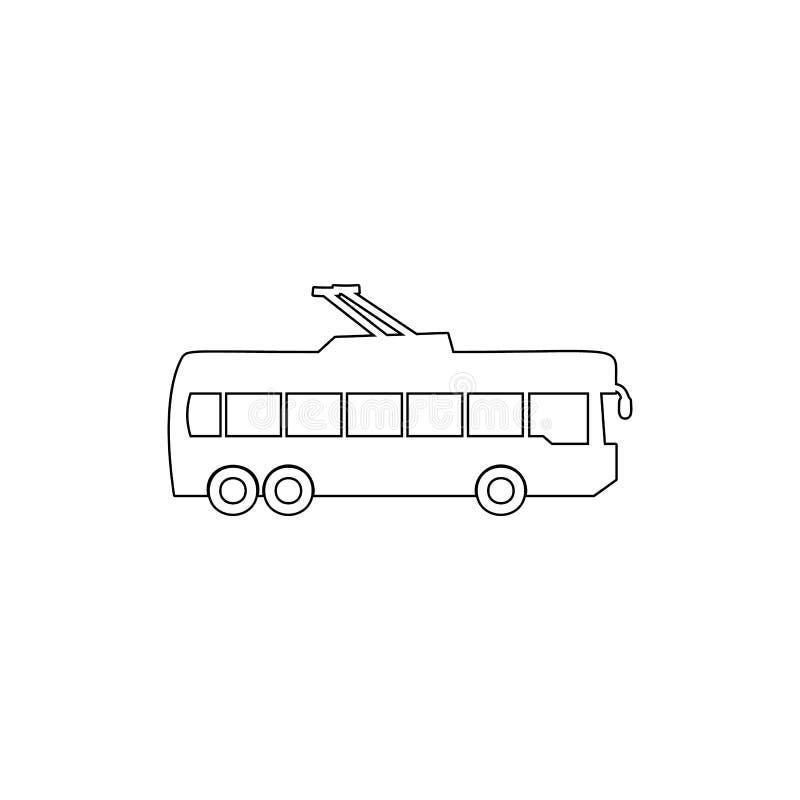 het pictogram van het trolleybusoverzicht Element van autotype pictogram Grafisch het ontwerppictogram van de premiekwaliteit Tek royalty-vrije illustratie