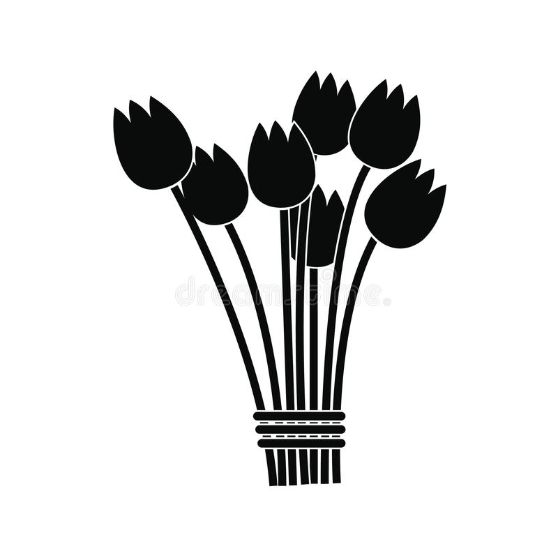 Het pictogram van het tulpenboeket royalty-vrije illustratie