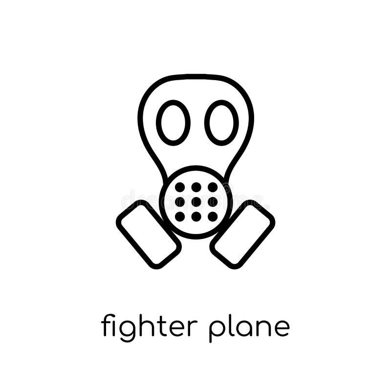 het pictogram van het vechtersvliegtuig van Legerinzameling vector illustratie