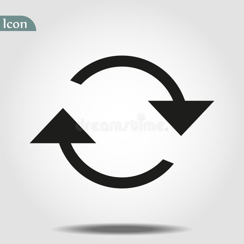 Het pictogram van veranderingsglyph Eenvoudige tekenillustratie het ontwerp van het veranderingssymbool Kan voor Web worden gebru stock illustratie