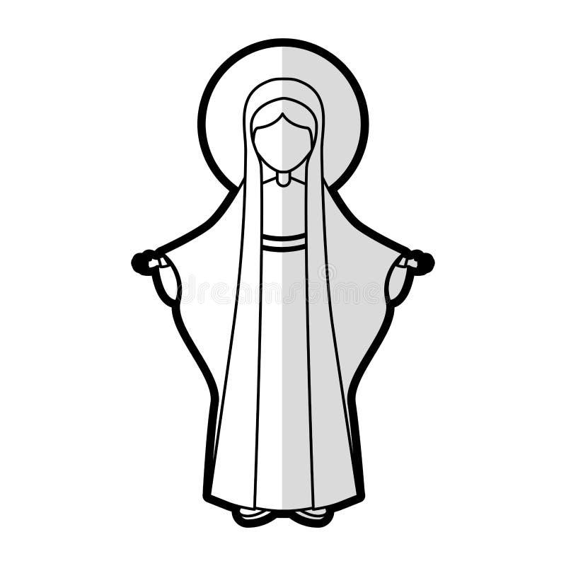 Het pictogram van Vergine Santa Mary vector illustratie