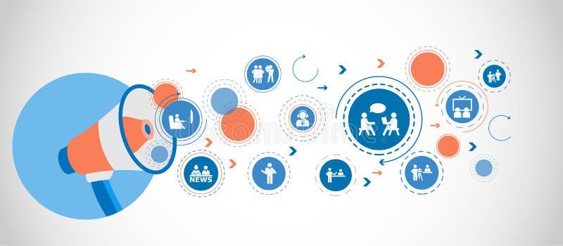 Het pictogram van verkiezingsdebatten Gedetailleerde vastgestelde pictogrammen van Media elementenpictogram Het grafische ontwerp vector illustratie