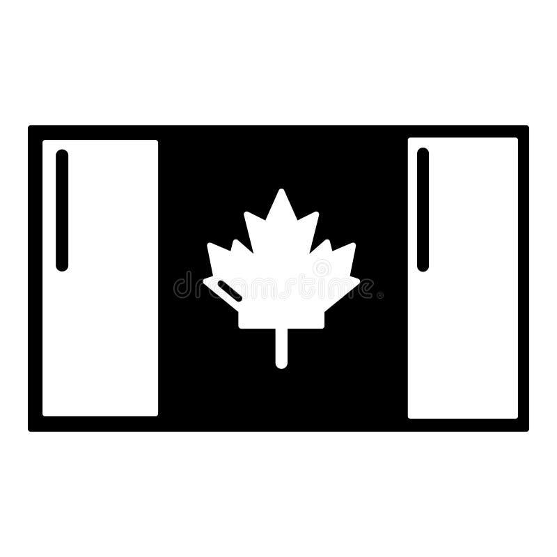 Download Het Pictogram Van Vlagcanada, Eenvoudige Zwarte Stijl Vector Illustratie - Illustratie bestaande uit land, zwart: 107708372