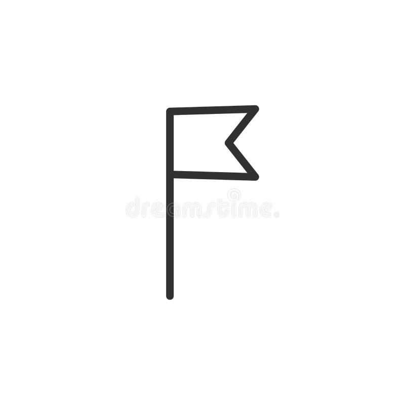 Het pictogram van het vlagoverzicht lineair stijlteken voor mobiel concept en Webontwerp vectorpictogram van de referentie het ee vector illustratie