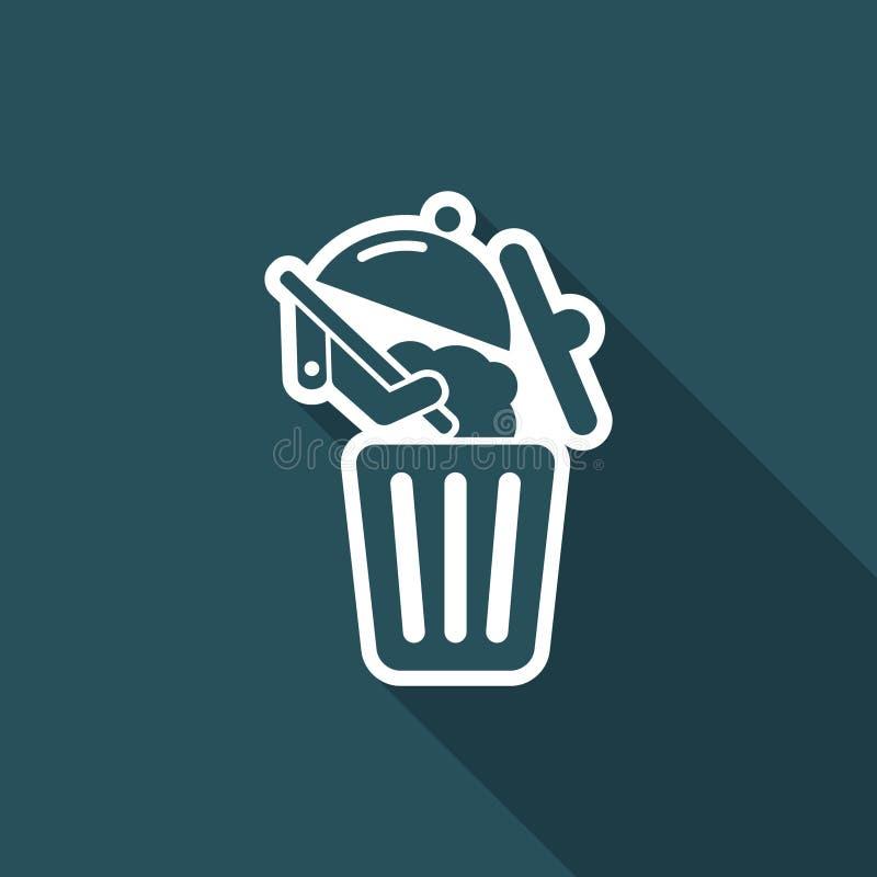 Het pictogram van het voedselafval royalty-vrije illustratie