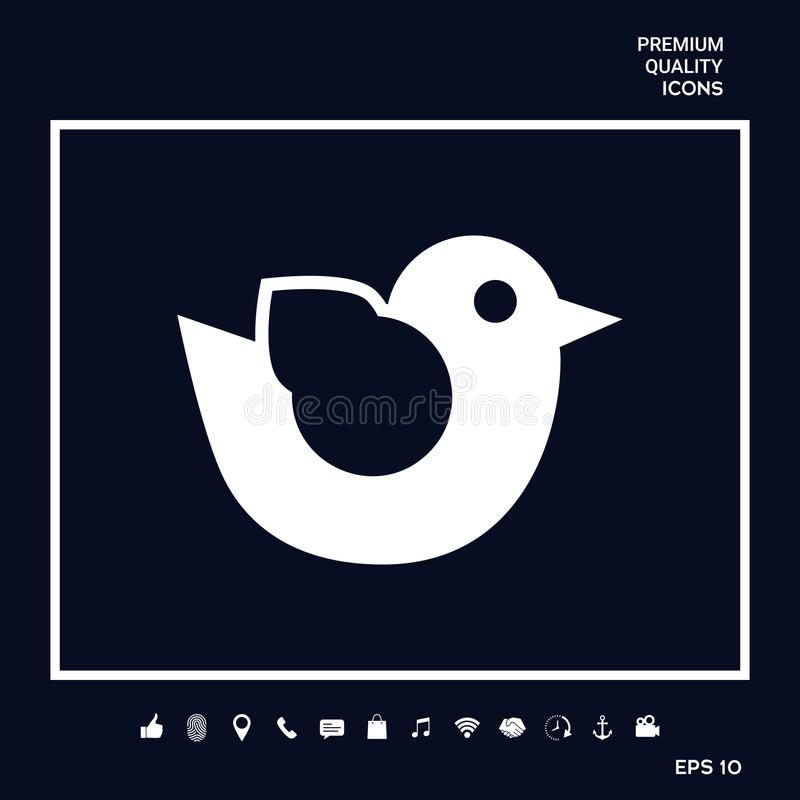Het pictogram van het vogelsymbool stock illustratie